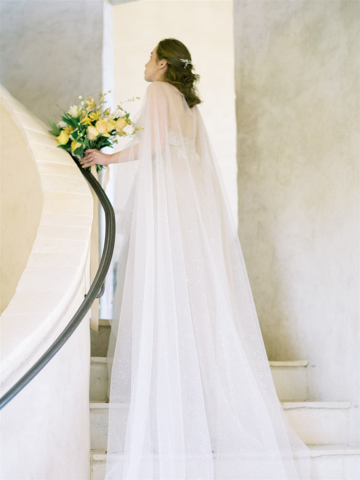 STARDUST | Sparkling Wedding Cape - Noon on the Moon