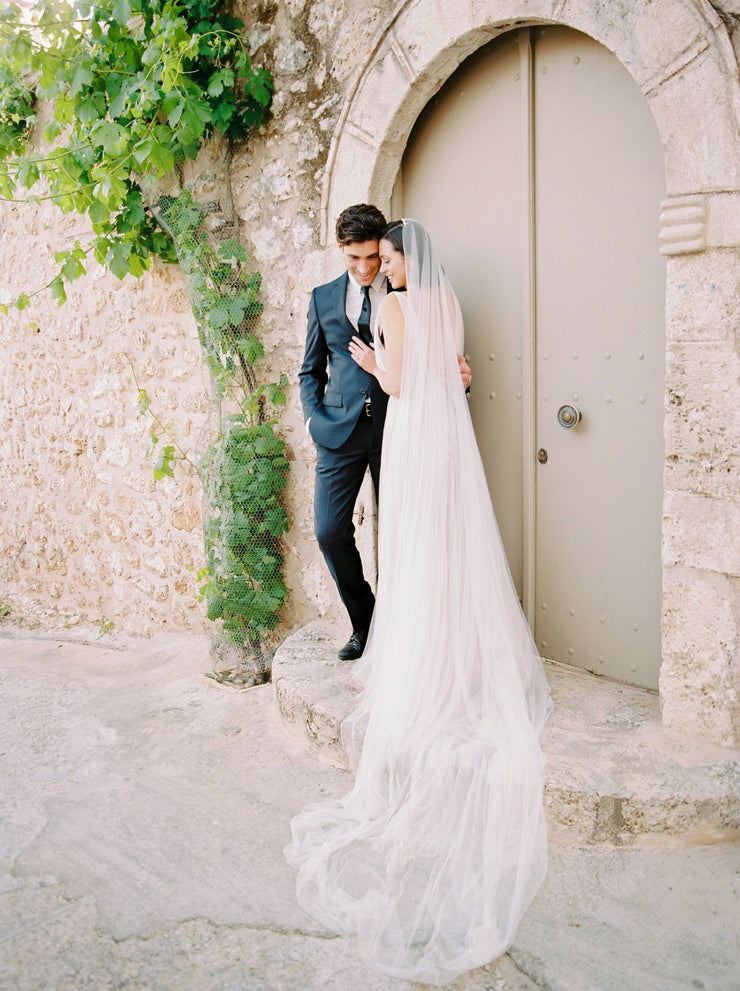 TALITHA | Modern Long Wedding Veil | Noon on the Moon