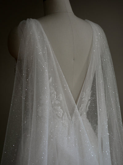 VEGA | Sparkling Bridal Cape - Noon on the Moon