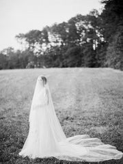VICTORIA | Bridal Veil with Long Blusher