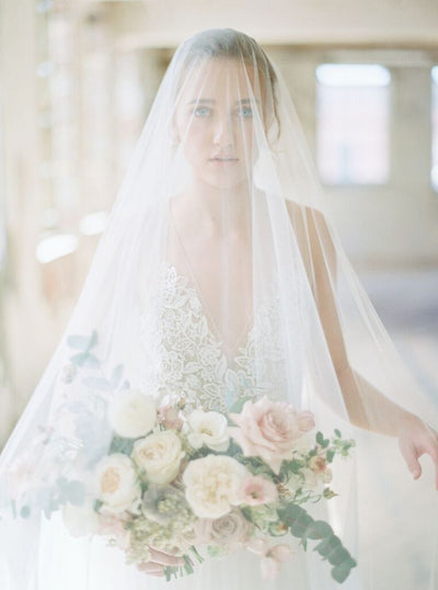 VICTORIA | Bridal Veil with Long Blusher | Noon on the Moon