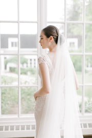 VIVIANNE | Bridal Veil with Blusher | Noon on the Moon