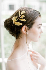 WILLOW | Gold Leaf Headpiece