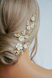 MAYLEE | Floral Bridal Headpiece - Noon on the Moon