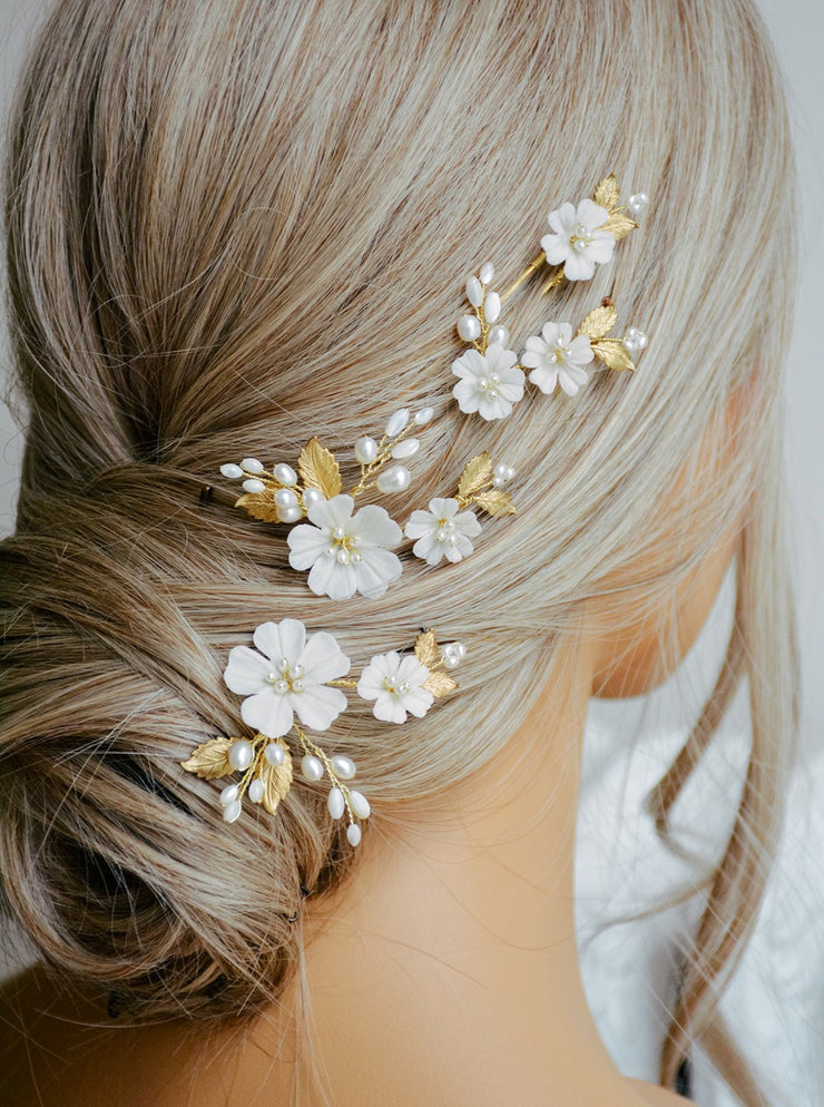 MAYLEE | Floral Bridal Headpiece