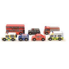 Le Toy Van London set met auto´s