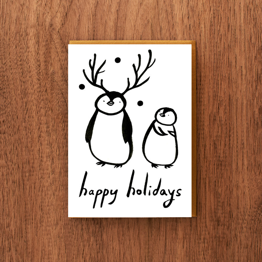 Penguin Reindeer Holiday