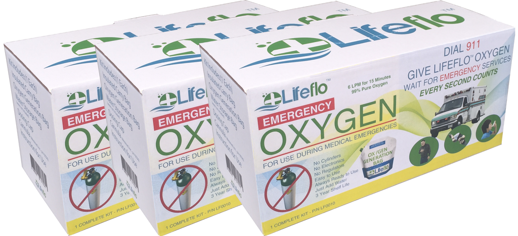Lifeflo OTC Emergency Oxygen - 3 Pack(3)