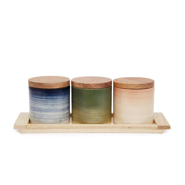 Basic Ceramic Jar Trio