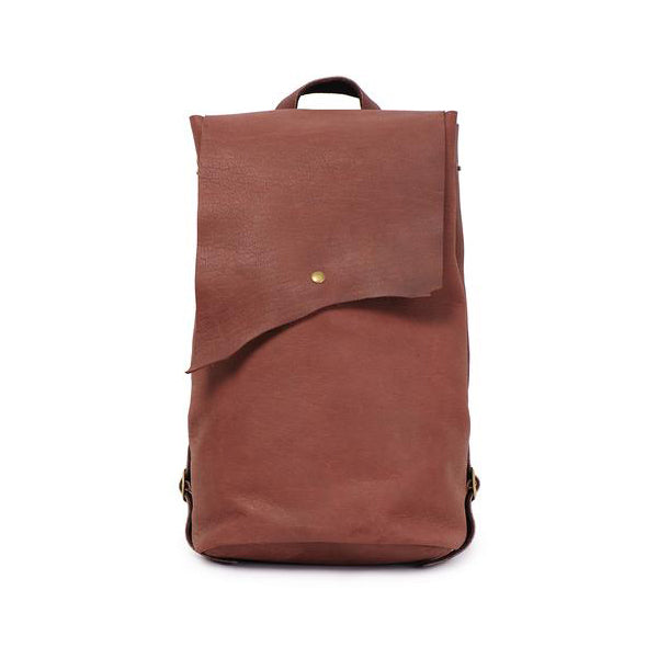 Luxury Burgundy Leather Backpack