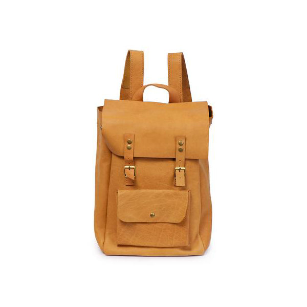 Luxury Tan Leather Backpack