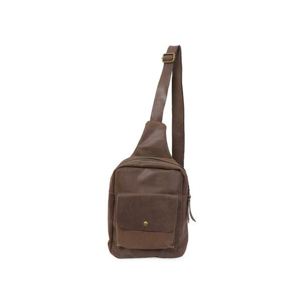 Unisex Leather One-Shoulder Backpack