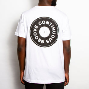 Continuous Groove Back Print - Tshirt - White - Wasted Heroes