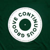Continuous Groove Back Print - Tshirt - Green - Wasted Heroes