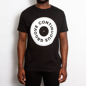 Continuous Groove Front Print - Tshirt - Black - Wasted Heroes