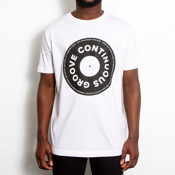Continuous Groove Front Print - Tshirt - White - Wasted Heroes
