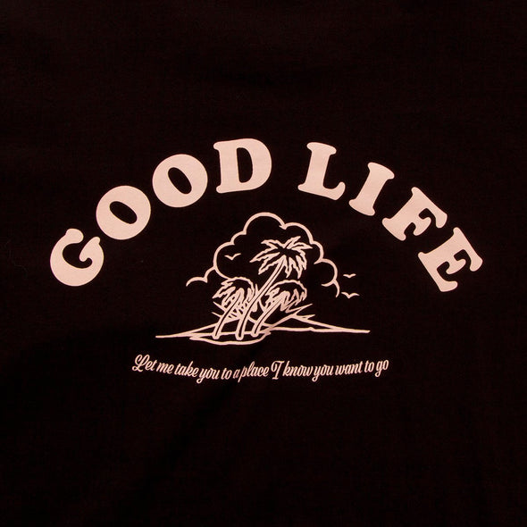 Good Life  - Oversized Tshirt - Black - Wasted Heroes