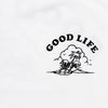 Good Life Black Print - Tshirt - White - Wasted Heroes
