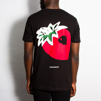 Strawberry Back Print - Tshirt - Black - Wasted Heroes