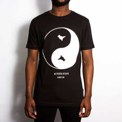 Dove Front Print T-shirt - Black