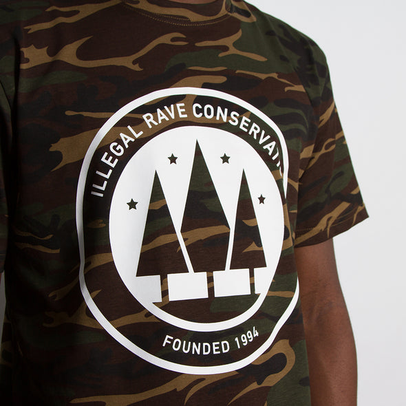 Illegal Rave Conservation - Tshirt - Camouflage - Wasted Heroes