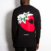 Strawberry Back Print - Long Sleeve - Black