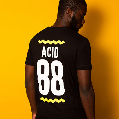 Acid 88 Back Print - T-shirt - Black - Wasted Heroes