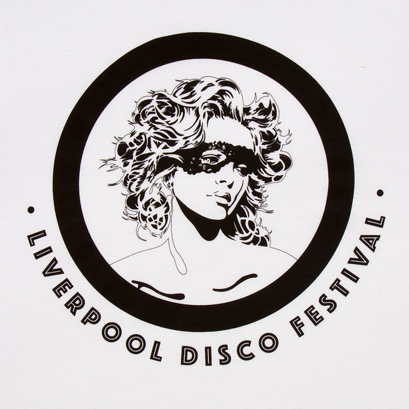 Liverpool Disco Festival Logo - Tshirt - White - Wasted Heroes