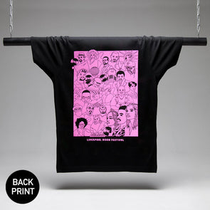 Disco Fest Artists Back Print - Tshirt - Black