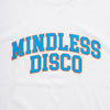 Mindless Disco Blue Print - Womens Tshirt - White - Wasted Heroes