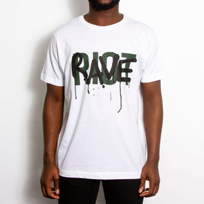 Rave Riot - Tshirt - White - Wasted Heroes