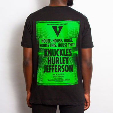 Sound System House Green Back - Tshirt - Black - Wasted Heroes