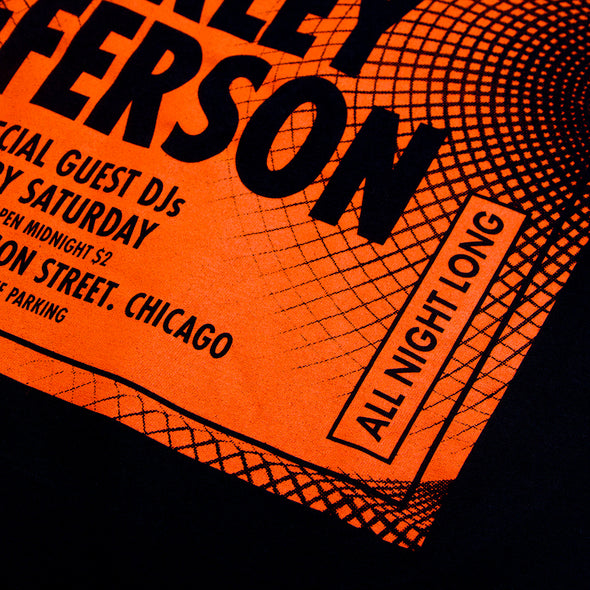 Sound System House Orange Front - Tshirt - Black - Wasted Heroes
