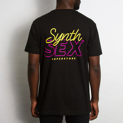 Synth Sex Superstore Back - Tshirt - Black