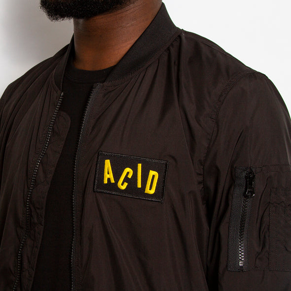 Acid Letter - Lightweight Bomber - Black - Wasted Heroes