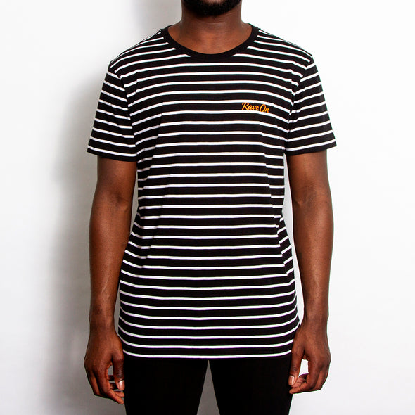 Rave On - Striped Tshirt - Black/White - Wasted Heroes