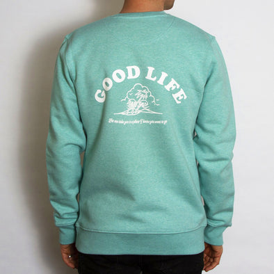 Good Life - Sweatshirt - Mid Green - Wasted Heroes