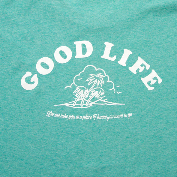 Good Life - Tshirt - Mid Green - Wasted Heroes