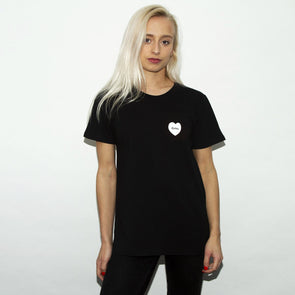 Techno Love - Womens Tshirt - Black - Wasted Heroes