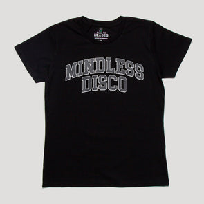 Mindless Disco grey Print - Womens Tshirt - Black - Wasted Heroes