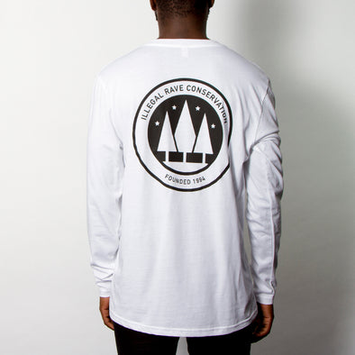 Illegal Rave Conservation- Long Sleeve - White