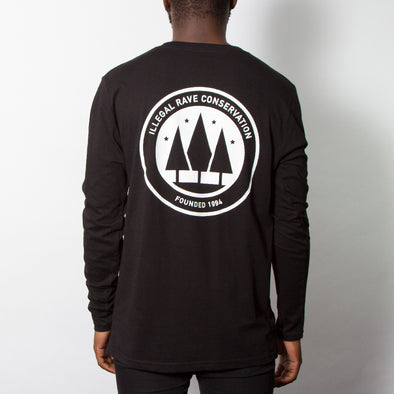 Illegal Rave Conservation - Long Sleeve - Black - Wasted Heroes
