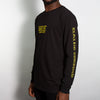 Synth Acid House Arm Print - Long Sleeve - Black