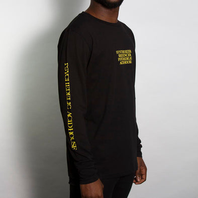 Synth Acid House Arm Print - Long Sleeve - Black - Wasted Heroes