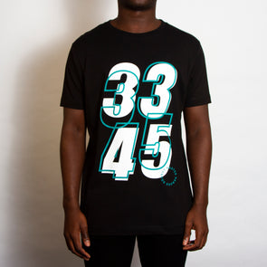 33 45 Front Print - Tshirt - Black - Wasted Heroes