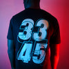 33 45 Back Print - Tshirt - Black - Wasted Heroes