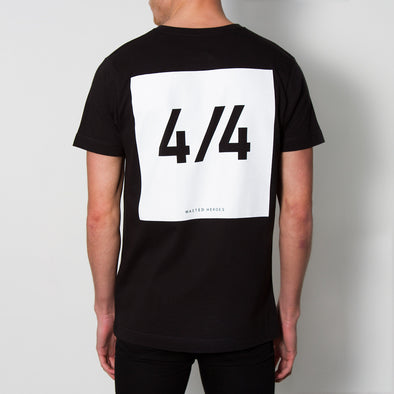 4/4 Back Print - Tshirt - Black