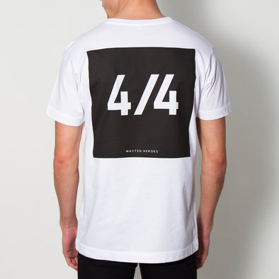 4/4 Back Print - Tshirt - White