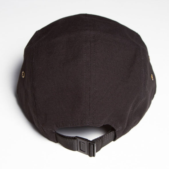Peoples Techno - 5 Panel Cap - Black - Wasted Heroes