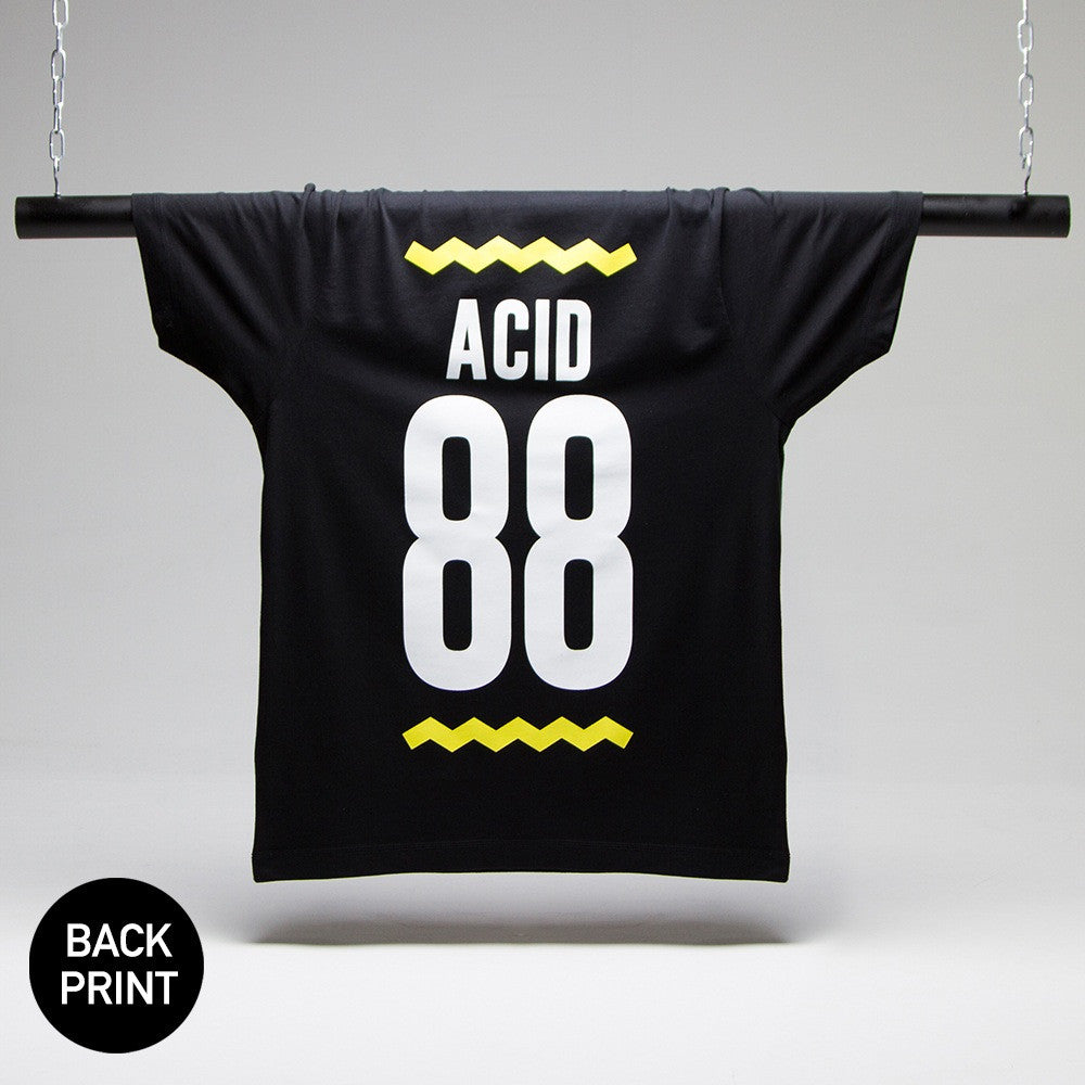 Acid 88 Black T-shirt - Back Print